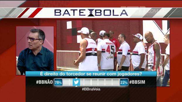 Comentaristas divergem ao analisar reunião com torcida; Calçade: 'É um negócio primitivo; e explica o futebol brasileiro'