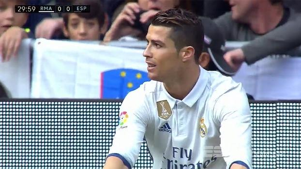 Tempo real: Cristiano Ronaldo dá passe na segunda trave, mas Morata não consegue finalizar