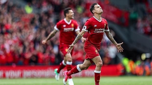 Assista aos gols da vitória do Liverpool por 3 a 0 sobre Middlesbrough