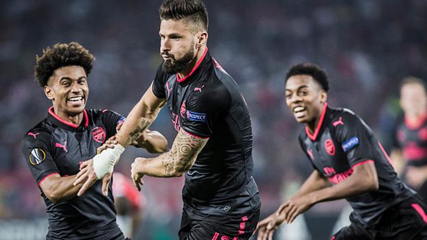 Puxeta de Giroud, voleio de Ocampos, toques de letra e mais; veja golaços da rodada da Europa League