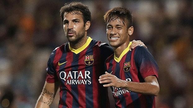 Relembre o primeiro gol de Neymar com a camisa do Barcelona em 2013