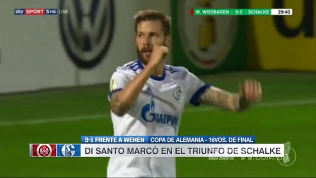 Com gol de Di Santo, Schalke 04 vence Wehen Wiesbaden na Copa da Alemanha