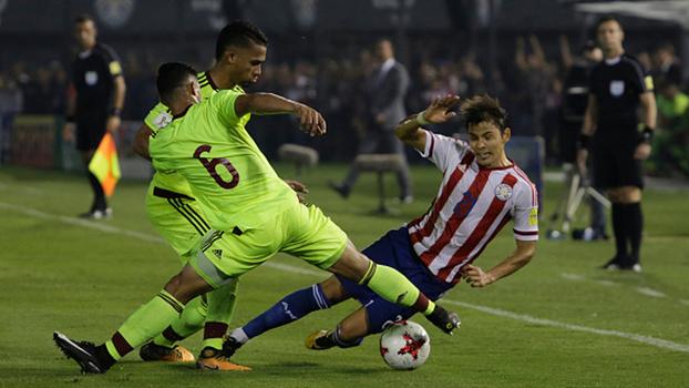 Veja o gol da vitória da Venezuela sobre o Paraguai por 1 a 0 pelas Eliminatórias Sul-Americanas