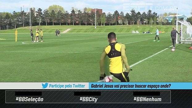 Voltando! Gabriel Jesus esbanja habilidade e carisma em treino do Manchester City