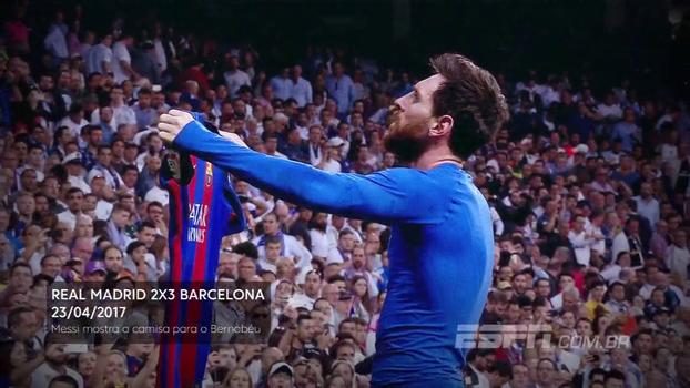 14 dias para Real x Barça: quando Lionel Messi calou o Bernabéu e ainda mostrou a camisa
