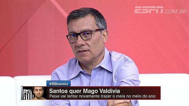 Calçade avalia 'risco' em possível chegada de Valdivia ao Santos: 'Não vejo confiança no jogador'