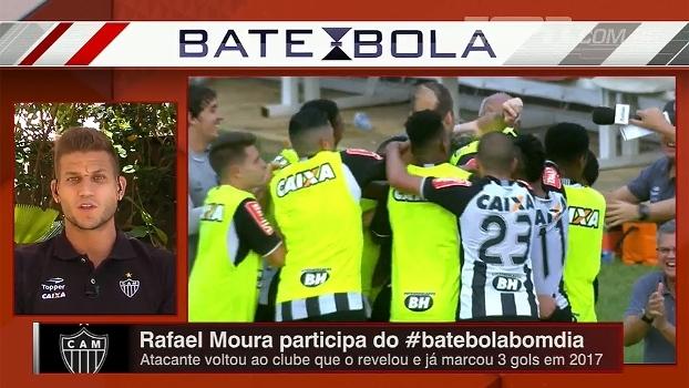 Rafael Moura fala sobre briga por espaço no esquema tático do Atlético-MG com um atacante só