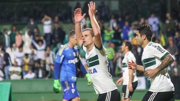 Brasileiro: Gol de Coritiba 1 x 0 Palmeiras