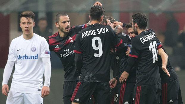 Europa League: Gols de Milan 5 x 1 Austria Vienna