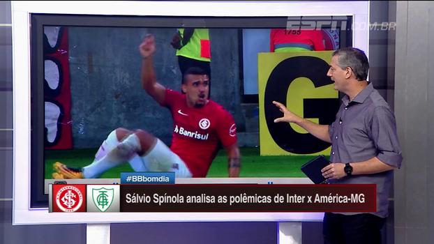 Sálvio analisa polêmica na partida entre Inter e América-MG, onde colorados pedem a expulsão do goleiro adversário