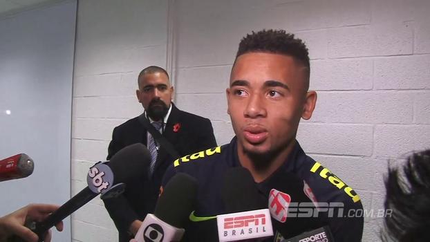 Gabriel Jesus diz que não percebeu Neymar diferente: 'Ele estando chateado, todos nós vamos estar'