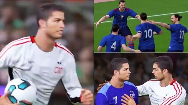 Veja como seria um duelo entre 11 Ibrahimovics e 11 Cristianos Ronaldos
