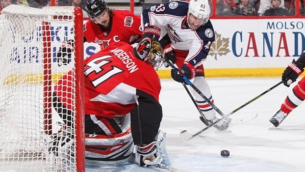 Columbus Blue Jackets sai na frente, mas Ottawa Senators reage e vence de virada