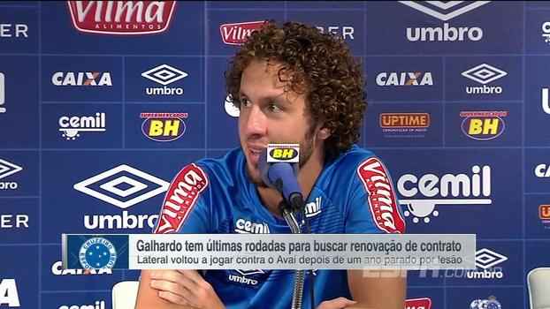 Com contrato chegando ao fim no Cruzeiro, Rafael Galhardo brinca: 'Por mim, poderia ter mais uns 10, 15 jogos'