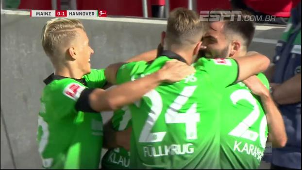 Assista aos melhores momentos da vitória do Hannover sobre o Mainz por 1 a 0!