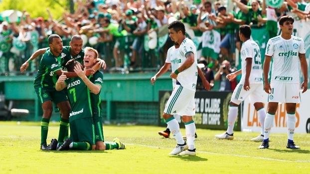 Veja os gols do empate entre Chapecoense e Palmeiras por 2 a 2