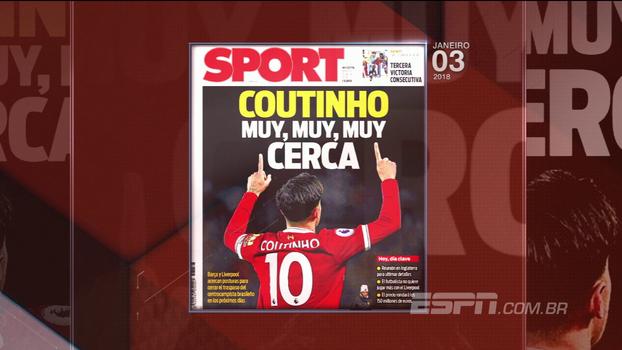 Comentaristas do BB Bom Dia concordam com possível transferência de Coutinho no meio da temporada