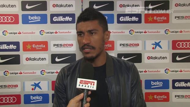 Paulinho comemora adaptação ao estilo do Barcelona: 'Estou entendendo. Estou pegando'