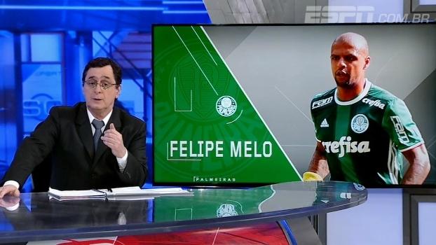 Antero acredita que Felipe Melo 'às vezes, exagera' em campo e pede cuidado com torcida: 'Não deve bater boca'