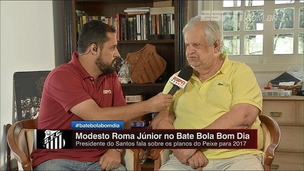 Modesto Roma abre as portas para Robinho: 'O Santos é a casa dele'