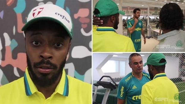 Michel Bastos conhece o CT do Palmeiras e manda recado à torcida