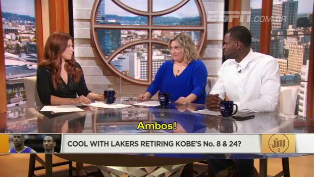 8 ou 24? Analistas da ESPN e Stephen Jackson discutem aposentadoria da camisa de Kobe e já falam em estátua; veja