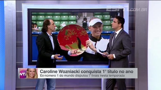 Fernando Meligeni analisa recuperação de Caroline Wozniacki e elogia título em Tóquio: 'Ela merece'
