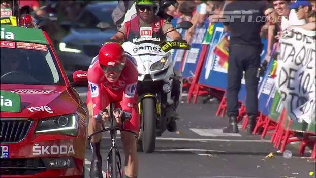 Chris Froome faz tempo incrível no contrarrelógio e vence a 16ª etapa da Volta da Espanha