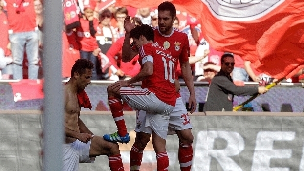 Português: Gols de Benfica (campeão) 4 x 1 Nacional