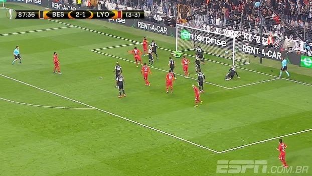 Tempo real: MEU DEUS! Pressão do Lyon e Fabri salva o Besiktas três vezes no mesmo lance