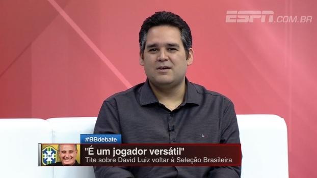 Bertozzi fala sobre convocação de David Luiz: 'O mundo não acabou em 2014'