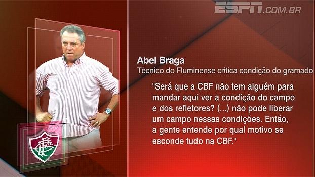 Abel critica gramado, cobra federação por melhores condições e Zé Elias questiona: 'Quando que a CBF cuidou do futebol?'