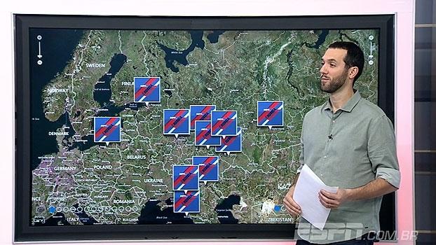 Passeio pela Rússia! Hofman mostra em detalhes os estádios da Copa; hoje teve até incêndio em um deles