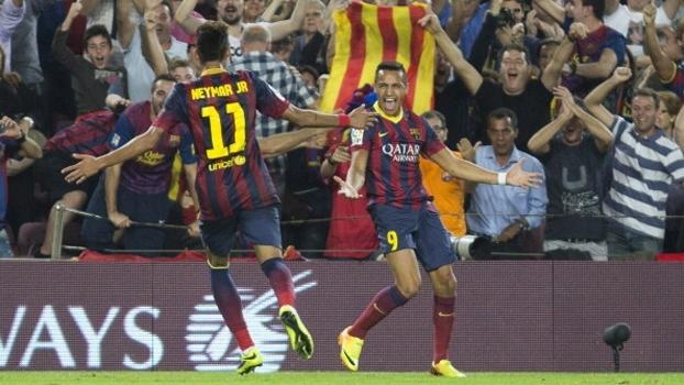 Com 10 gols em 2 jogos, El Clásico da temporada 2013-14 teve golaços de Sánchez e Iniesta