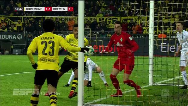Assista aos gols da vitória do Werder Bremen por 2 a 1 sobre o Borussia Dortmund