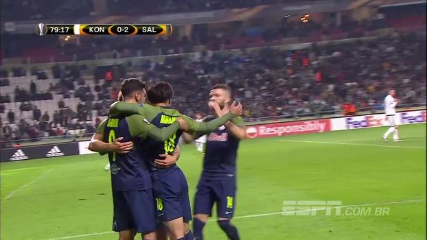 Salzburg vence na Turquia, soma 7 pontos em 3 jogos e segue líder
