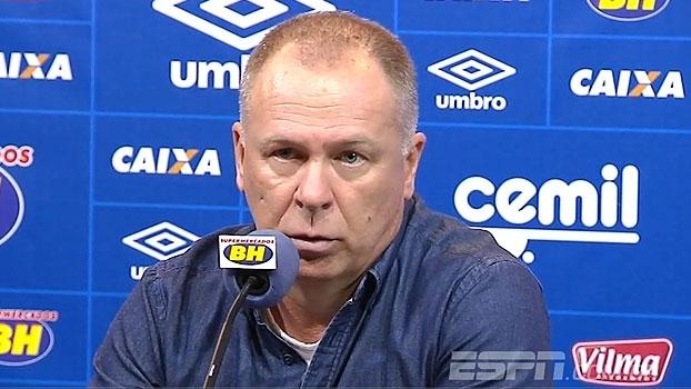 Mano Menezes fala sobre empate do Cruzeiro e critica árbitro: 'Abusou da autoridade'