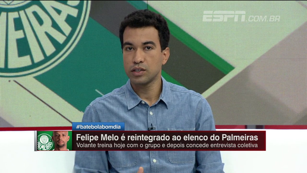 Breiller diz que Felipe Melo não amadureceu e que se tornou um estorvo para o Palmeiras