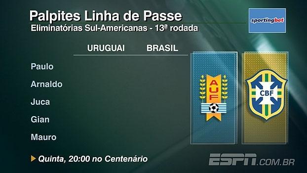 Confira os palpites do 'Linha de Passe' para o jogo da seleção contra o Uruguai