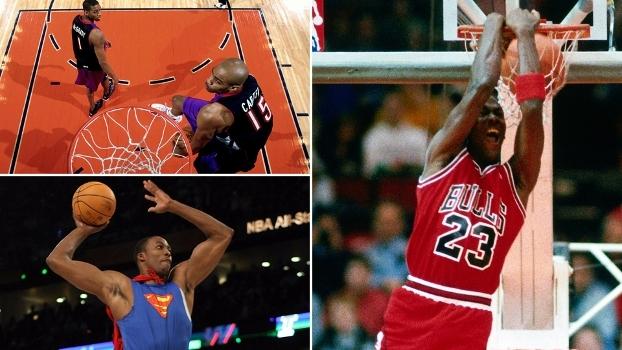 Voos de Jordan, show de Carter e 'Super-Howard': momentos históricos do torneio de enterradas
