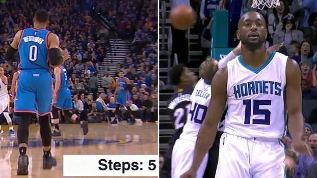 Comemoração antes da hora, bolada em árbitro e 'passeio' com a bola: 10 piores lances da temporada da NBA até aqui