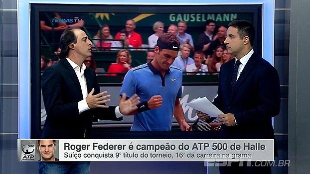Meligeni analisa título de Federer em Halle: 'Mostrou que vai ser o favorito em Wimbledon'