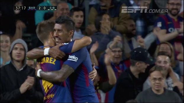Assista aos dois gols que Paulinho já marcou com a camisa do Barcelona