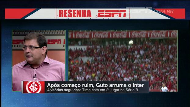 Guto elogia, vê D'Alessandro pregando 'cultura vencedora' no Inter e fala sobre início ruim na Série B: 'Ele foi um para-brisa'