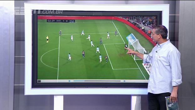 Sálvio mostra como árbitro de Barcelona x Malaga errou lance que juiz da Série B acertou