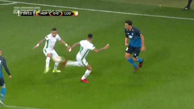 Ludogorets busca empate com o Hoffenheim, mas deixa liderança do grupo escapar