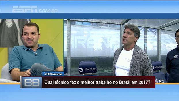 Renato, Carille, Jair, Enderson... Que técnico brasileiro fez o melhor trabalho em 2017?