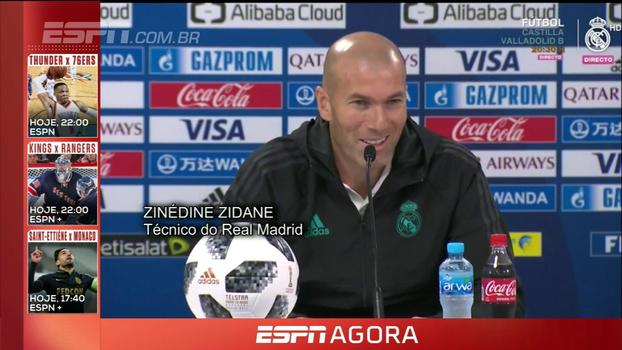 Zidane agradece elogios de Renato Gaúcho, mas diz que comparação com Ronaldo é 'um pouco forte'