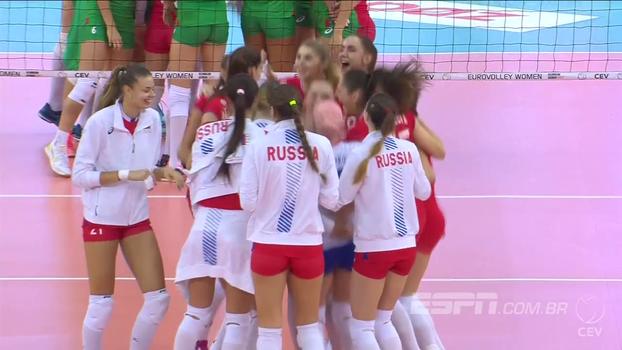Rússia vence Bulgária no tie-break pelo Campeonato Europeu Feminino