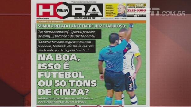 Futebol ou 50 tons de cinza? Bate Bola Bom Dia mostra capa curiosa de jornal